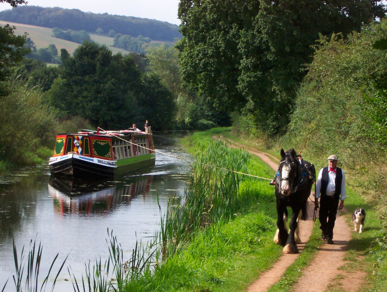 Tiverton Canal Co. Horse drawn barge