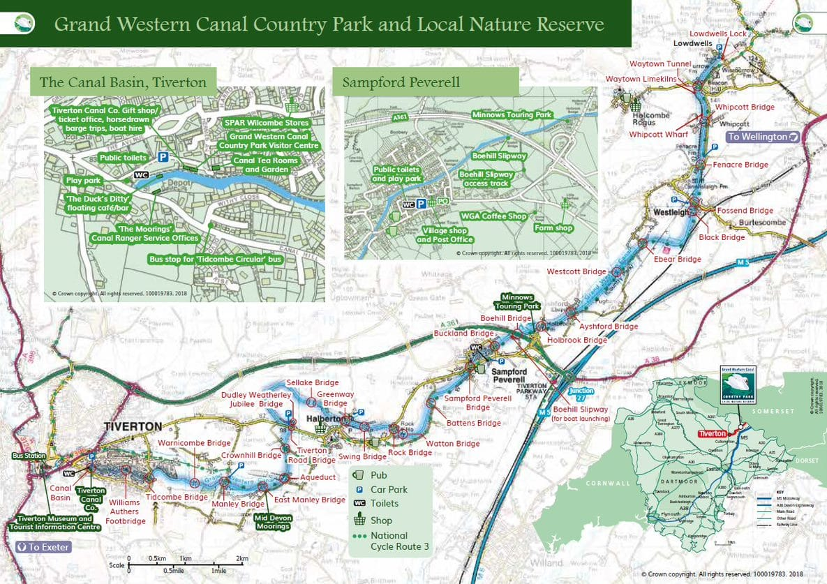 Grand Western Canal Country Park Map