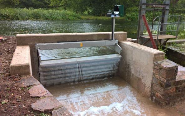 Tilting Weir at Burlescombe
