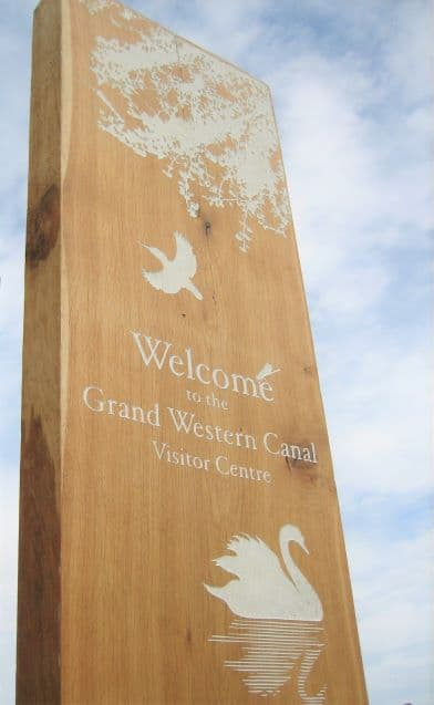 Grand Western Canal vistor centre sign