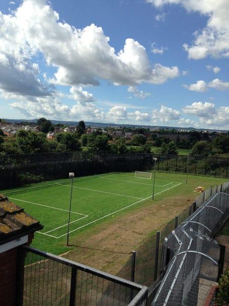 large sports pitch