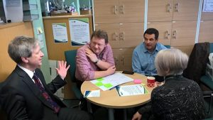 Adult Social Care Operations and Adult Commissioning and Health staff discuss leadership