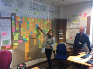 Highways Asset Officer, Sindhura Karra, spent several days completing the Understanding stage of the Doing What Matters Work. Pictured with Joe Deasy from Highways