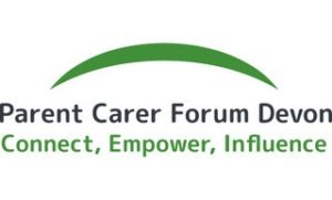 Parent carer forum Devon logo - connect, empower influence