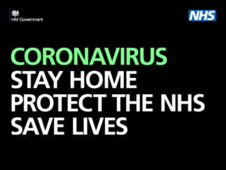 Coronavirus poster: Stay home, protect the NHS, save lives