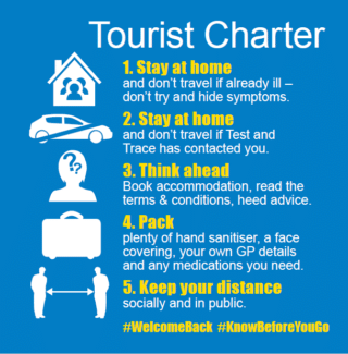 Tourism provider poster - the tourist charter