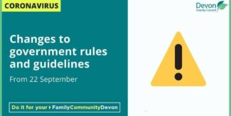 Change to government rules and guidelines from 22 September
