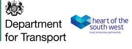Department for Transport and Heart of the South West logos