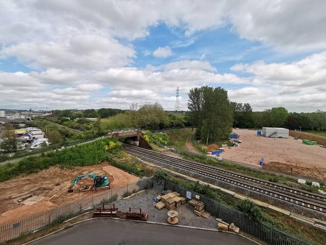Photo of the site being developed