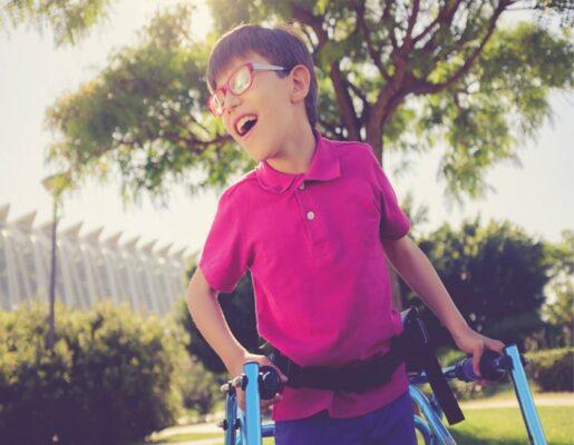 Boy with a walker
