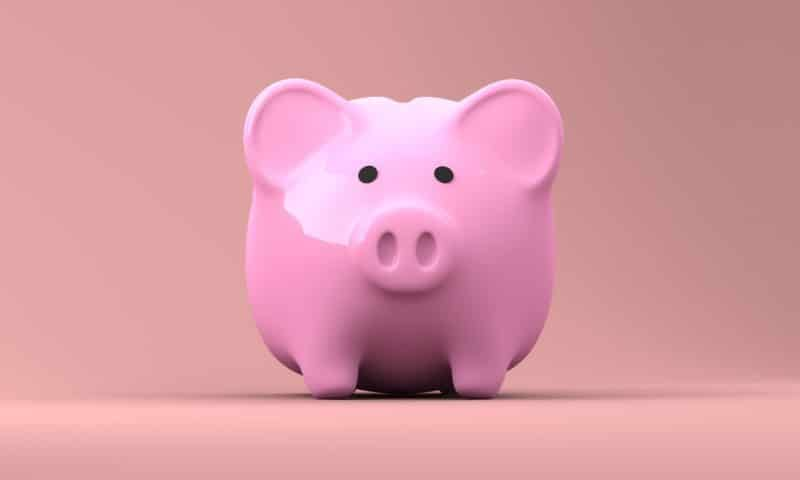 Pink piggy bank image