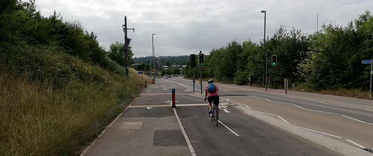 The E4 cycle route