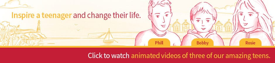 three teenagers animated