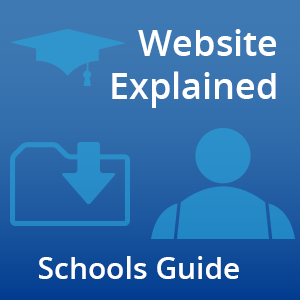 website explained - schools guide icon
