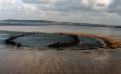 The vanishing wreck on Westward Ho! beach