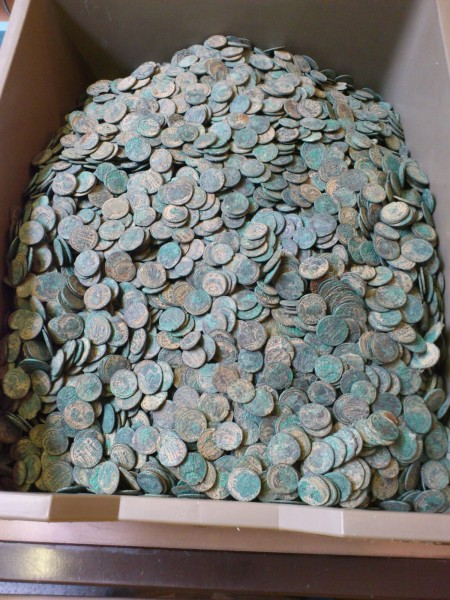 Part of the hoard after light cleaning at the British Museum. © The Trustees of the British Museum