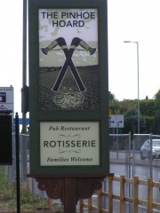 The new pub sign