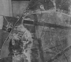 Camouflaged airfield at RAF Exeter in 1942. RAF/HLA/535 V 6087 07-MAY-1942. Historic England (RAF Photography).
