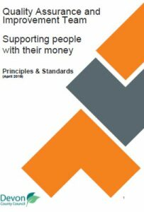 Front cover of supporting people with their money guide