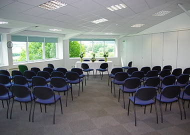 The ceremony room at Caddsdown