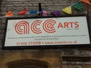 ACETarts sign above premises