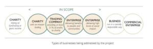 Diagram showing Scope of Social Enterprises