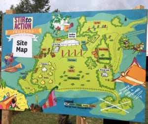 Stir to Action festival site map