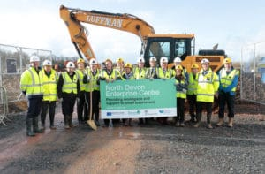 Photo of turf cutting at North Devon Enterprise Centre