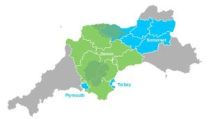 Heart of the South West Map