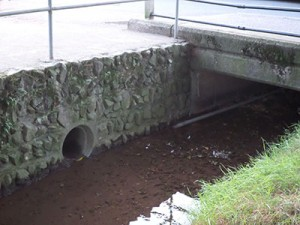 Photo of a culvert in an ordinary watercourse