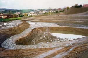 Photo of a SuDS construction site