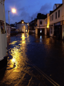 Photo of flooding in a street