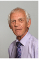 Headshot of Councillor Roger Croad. White male with grey hair in a shirt and tie.
