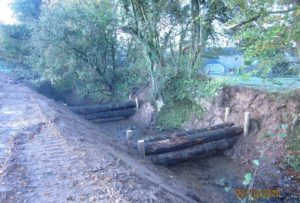Woody debris dams installed upstream of Ugborough