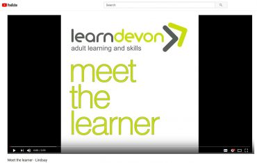 Learn Devon logo with text meet the learner