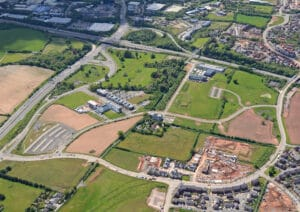 Aerial photo of Exeter Science Park