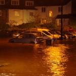 Flooding Buckfastleigh - Station Rd Car Park