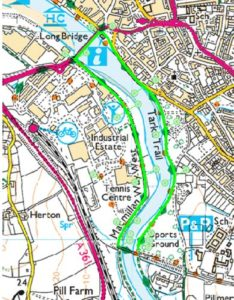 A map of the diversion route