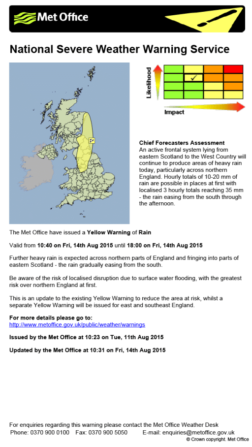 Example of a severe weather warning