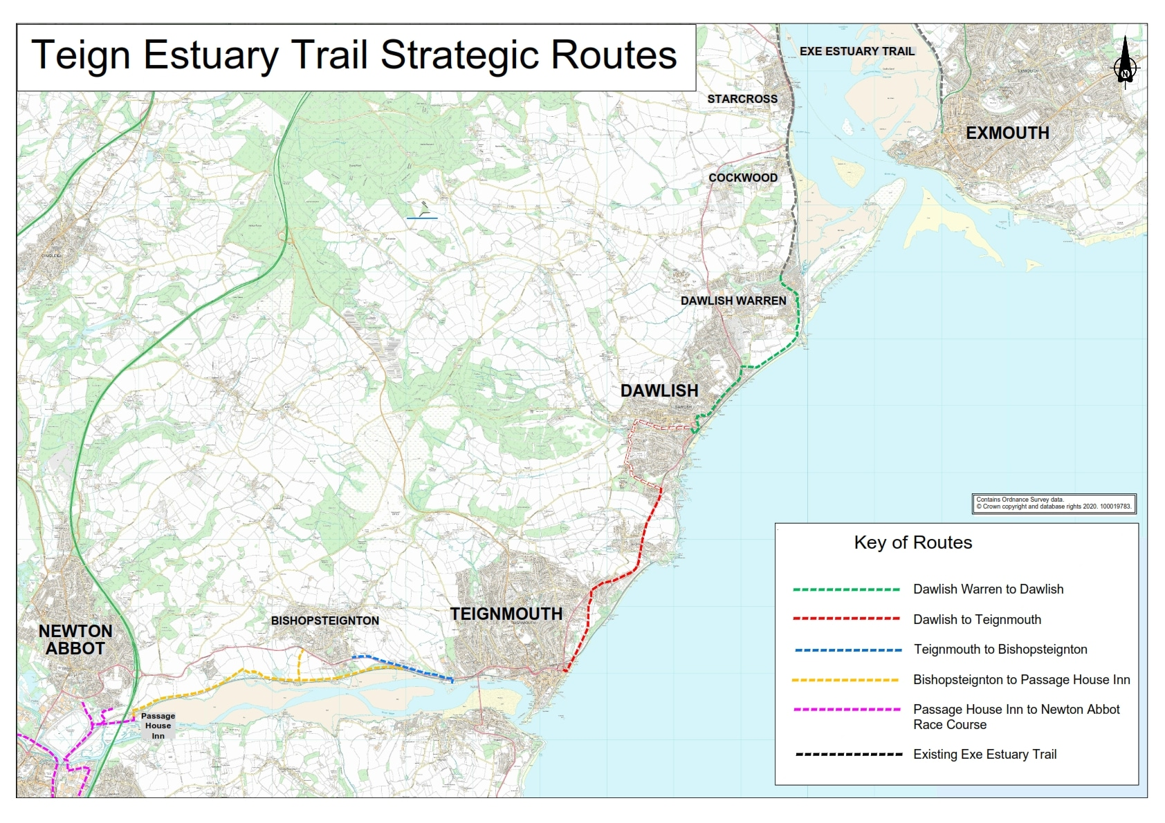 Strategic Routes from Exmouth to Newton Abbot