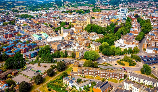 View over Exeter