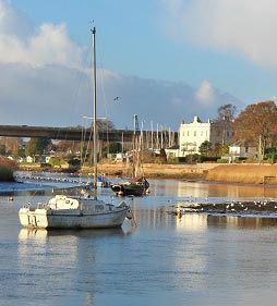 The river at Topsham
