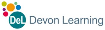 DEL Devon Learning logo