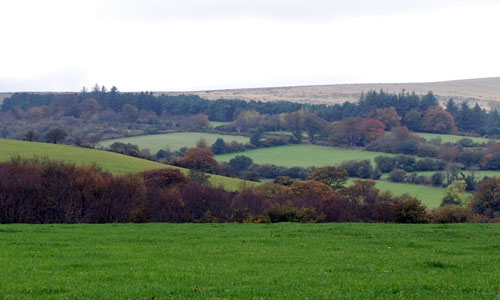 southern dartmoor landscape image