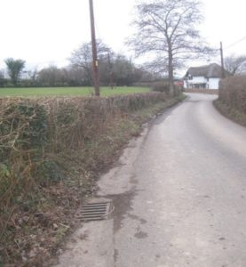 a country lane in Doddiscombsleigh