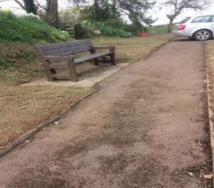 Bench off of path at North Tawton