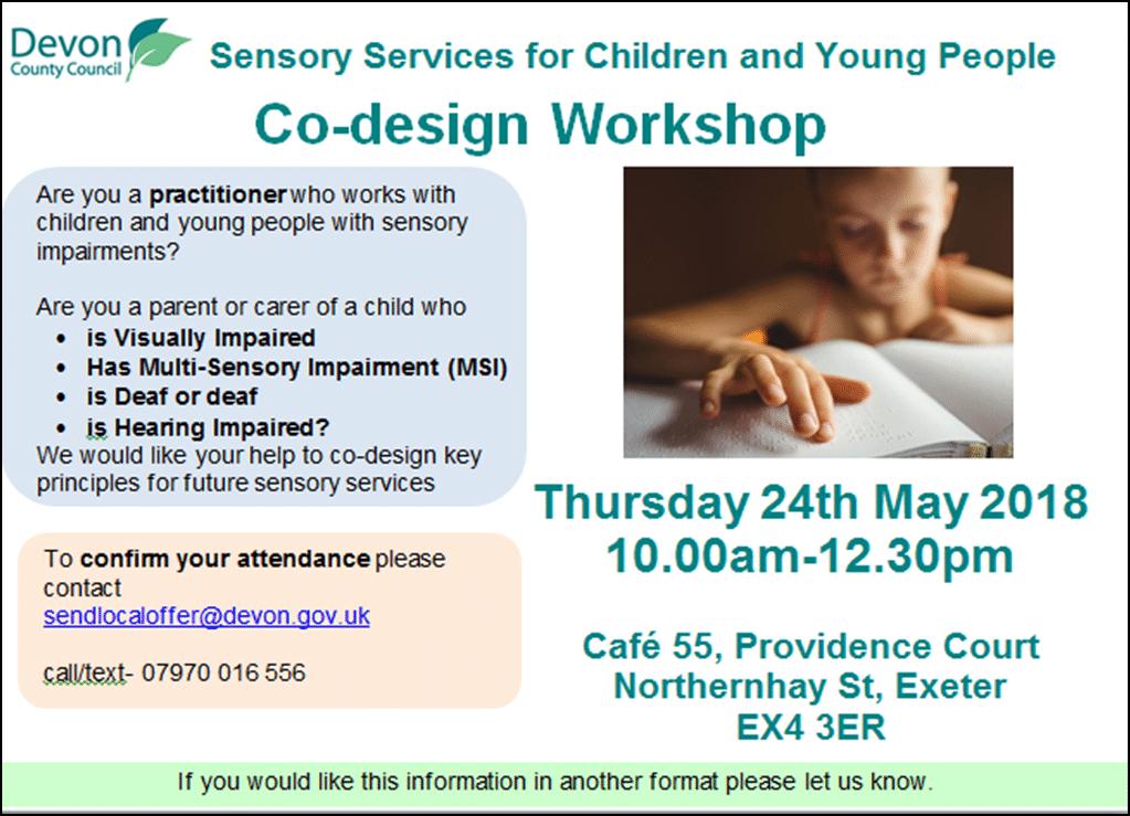 co-design workshop poster May 2018