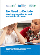 front cover of the no need to exclude document showing an adult and a child