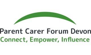 Parent carer forum Devon logo - connect, empower influence