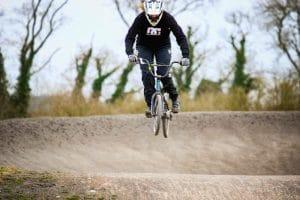 Bethan BMX riding